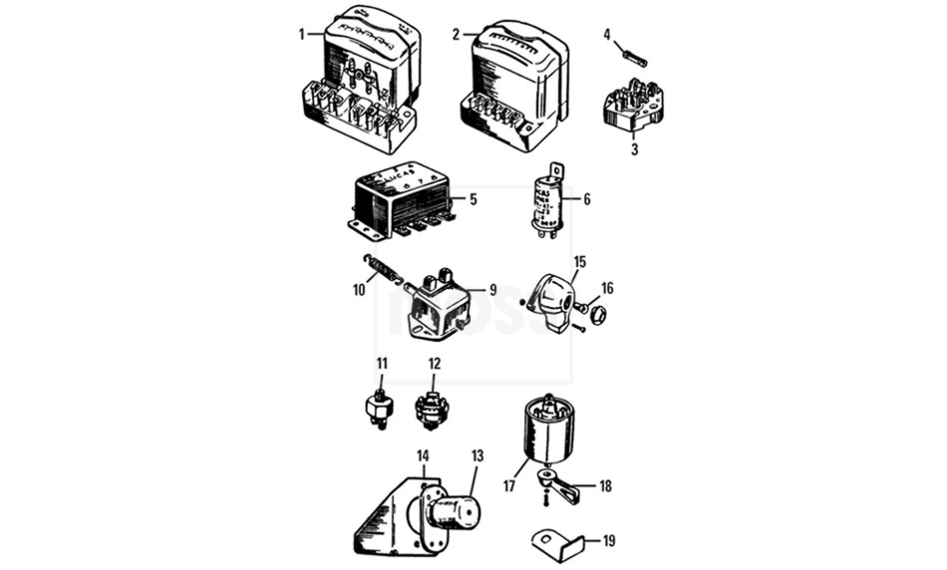 Switches Fuses Amp Regulator