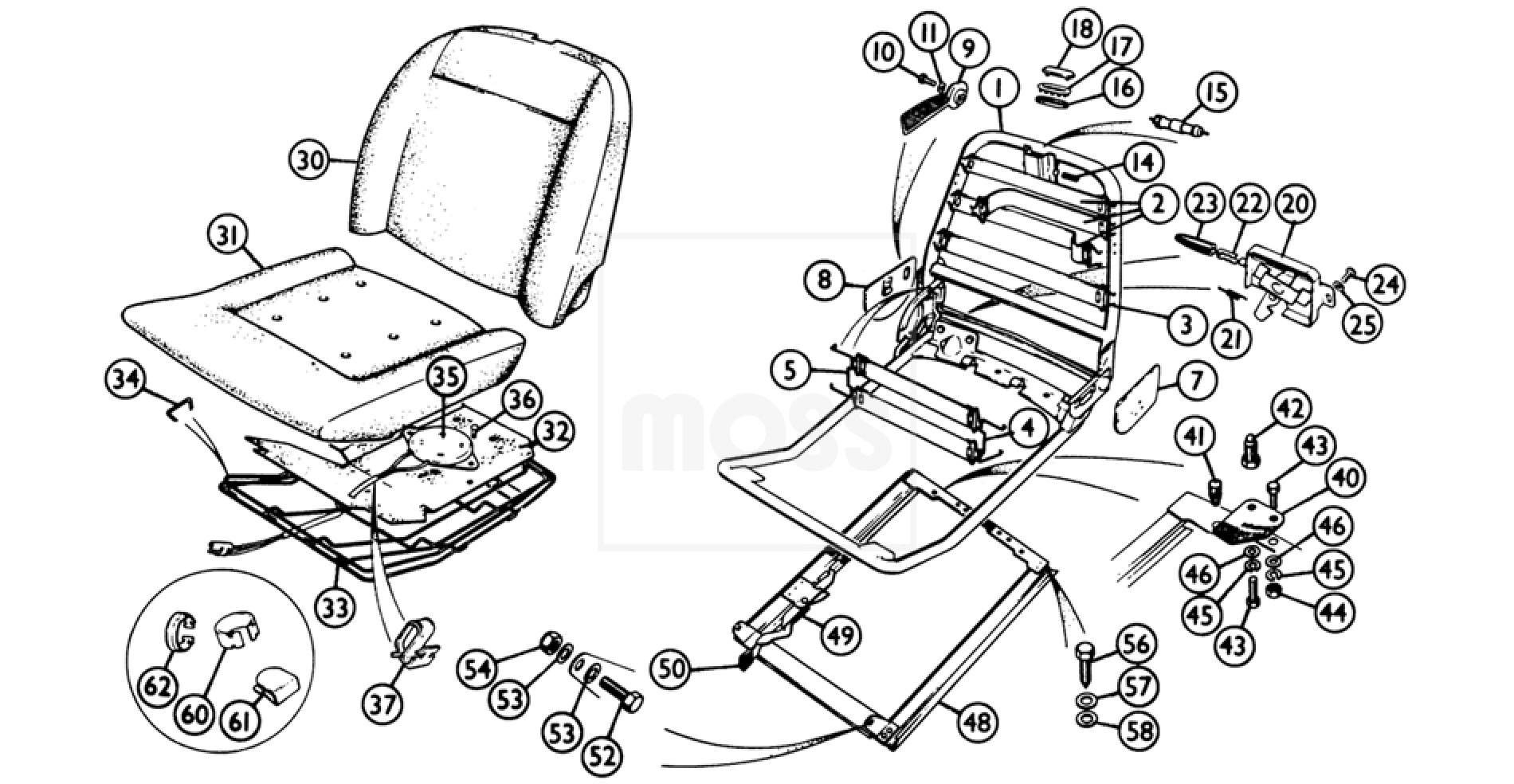 Seat Components Reclining Seats