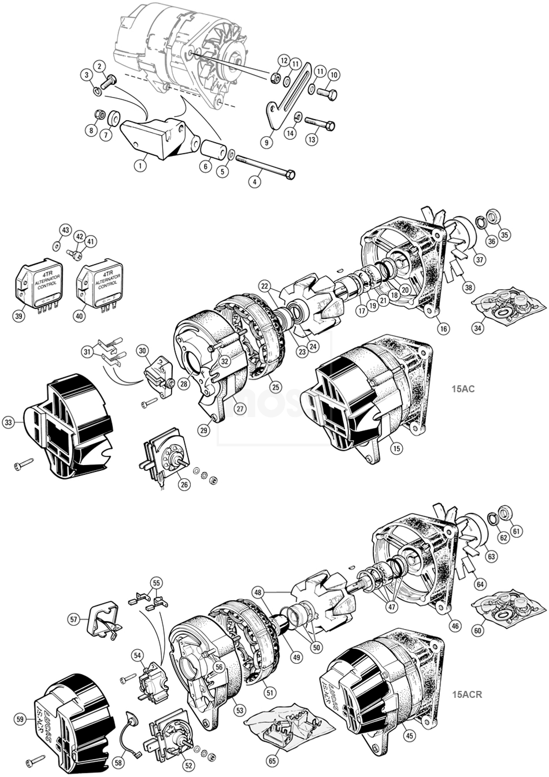 Lucas 15ac Alternator Wiring Diagram