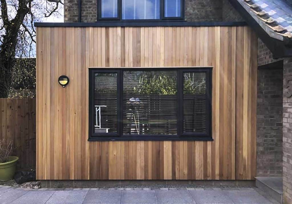 timber cladding for a contemporary finish on this building extension