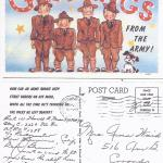 Army Postcard - 1942