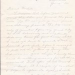 Handwritten letter on Army Stationary - 1942