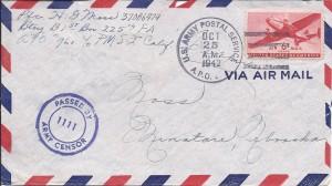 Air Mail envelope, 1942