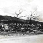 War destruction, Tinian 1944