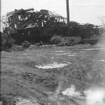 Bombed distillery plant, Tinian, August 14, 1944