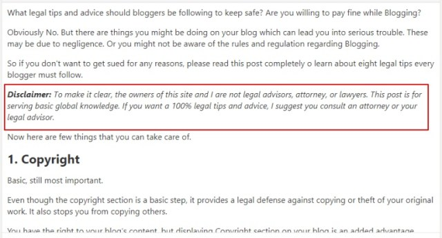 Legal tips for bloggers that will help you avoid legal issues