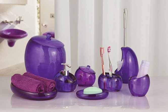 purple bathroom accessories uk