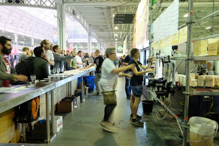 one of the foreign beer bars at this year's GBBF