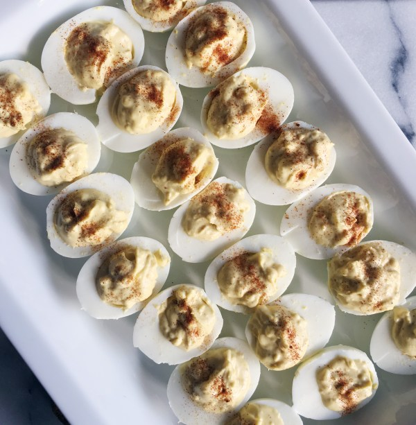 Deviled eggs with a hint of dill. Perfect for leftover Easter eggs