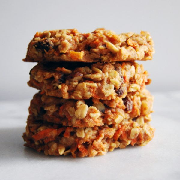 Carrot Cake Breakfast Cookies from Love Real Food cookbook (review on MostlyBalanced.com)