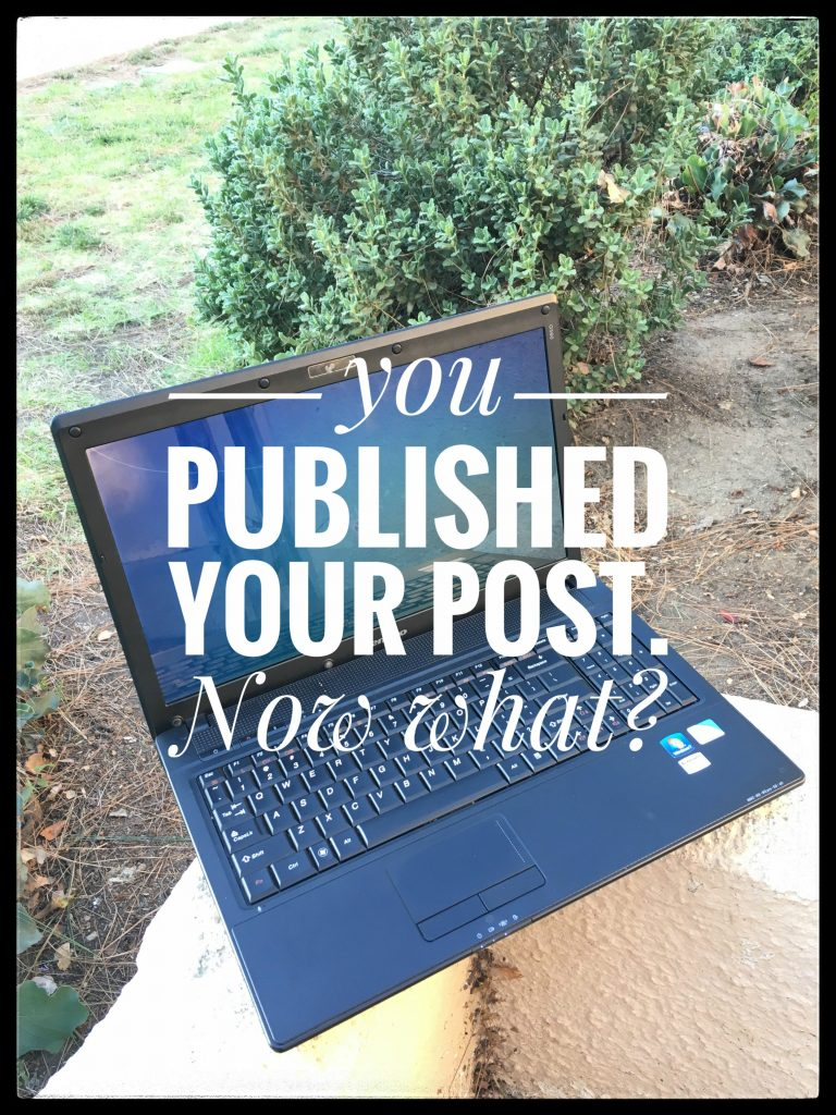 This Is What You Should Do After Publishing Your Blog Post by Mostly Blogging