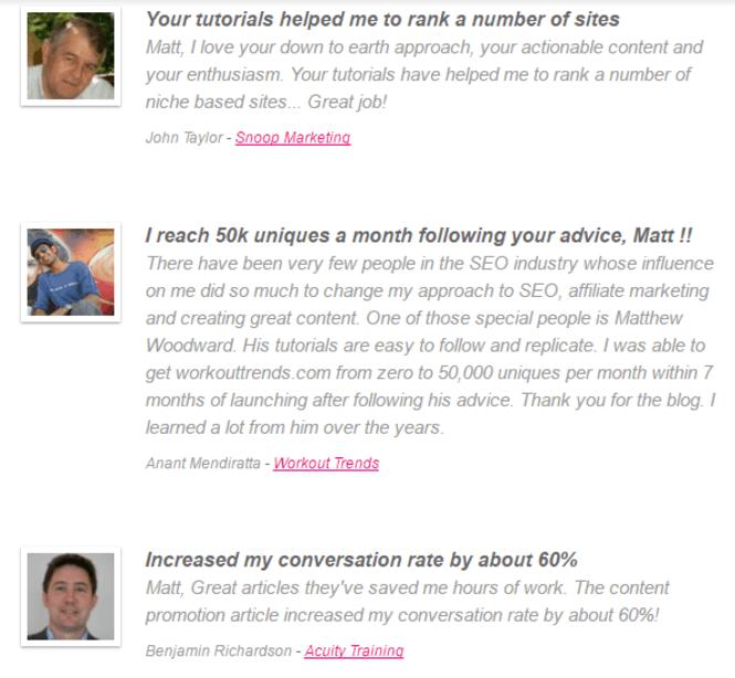 Let Matthew Woodward improve your #GoogleRankings & help you #MakeMoneyOnline