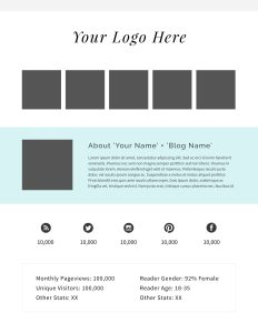 Make money blogging with a media kit