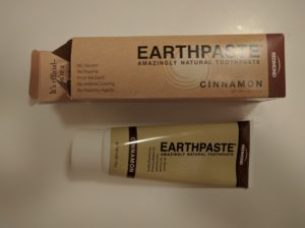 Earthpaste cinnamon toothpaste and box