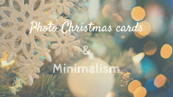 photo christmas cards and minimalism