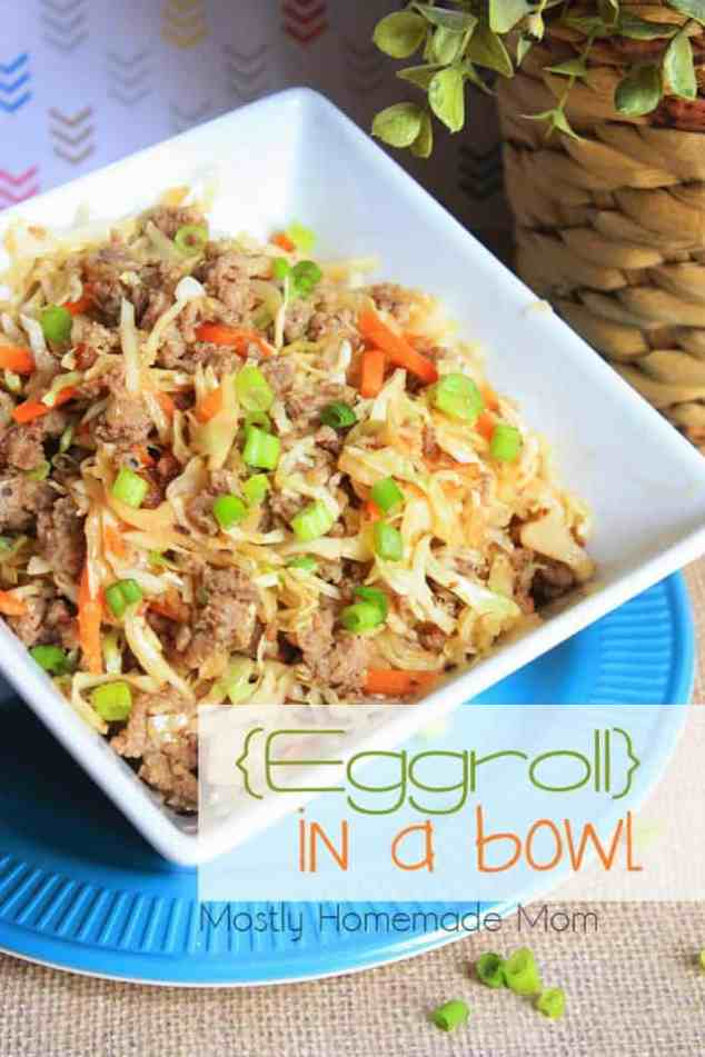 quick and easy dinner ideas, simple dinner ideas, quick and easy egg roll in a bowl