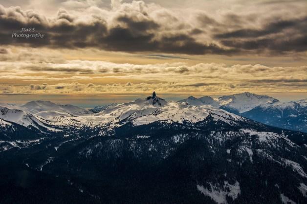 No.3 Buy Black Tusk by Sunset shot from Whistler Mountain Peak Yesterday
