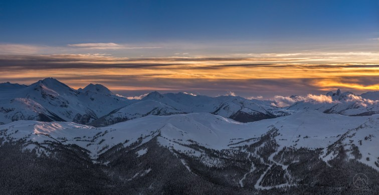 No.27 Whistler Winter Sunset