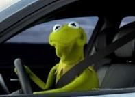 Kermit in BMW