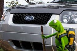 Kermit behind the scenes