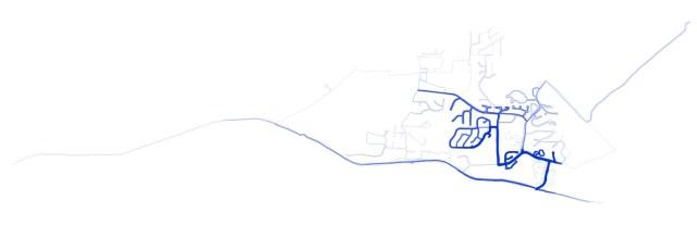 A plotKML jpg of my running data from Runkeeper
