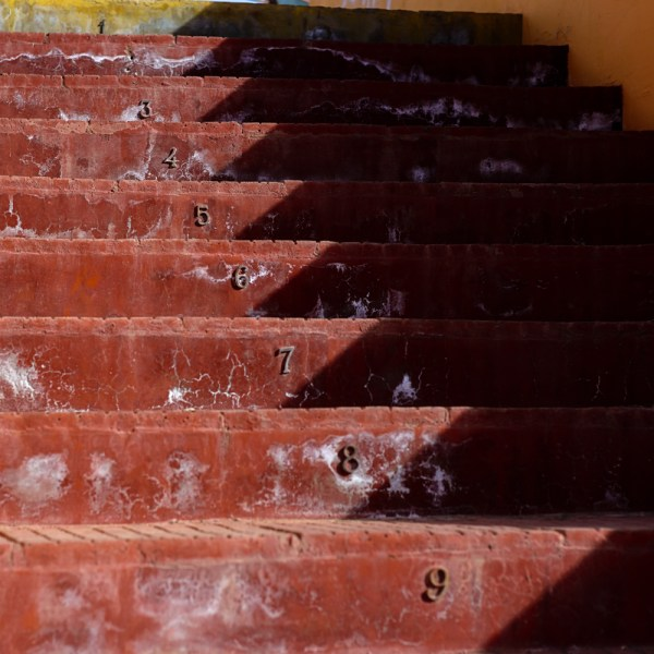 The stairs to the Chile Chico mirador.