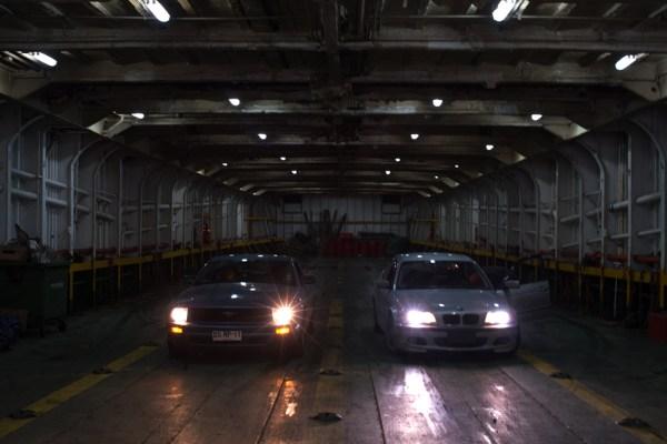 High volume ferry traffic.
