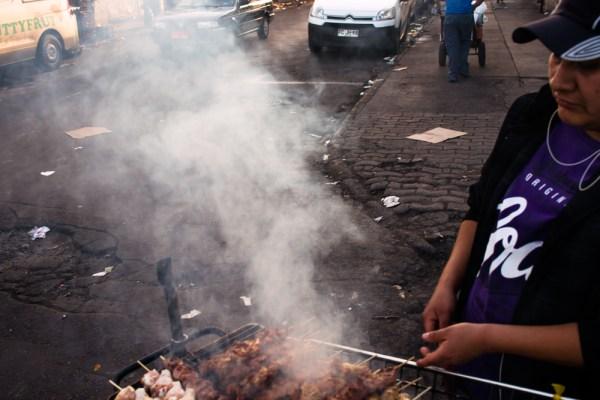 Street meat, dodgy market area.