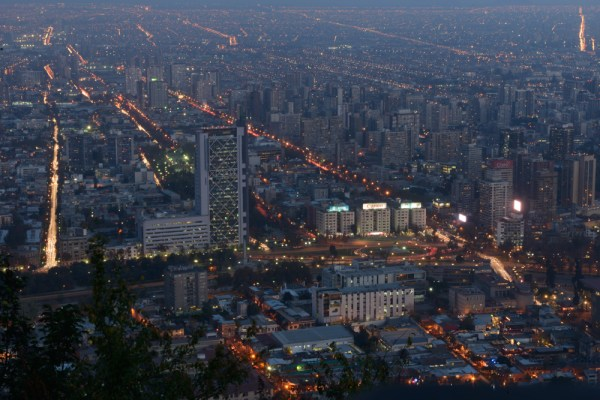 Blue hour Santiago