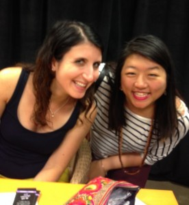 2015 Fierce Reads Tour. Me with Leila Sales, author of Tonight the Streets Are Ours