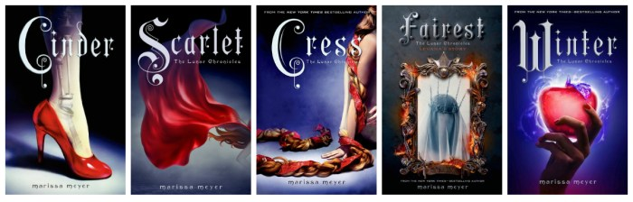 The Lunar Chronicles Covers (Mostly YA Lit)