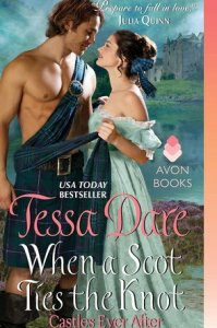 When A Scot Ties A Knot by Tessa Dare cover