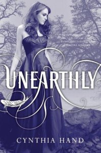 Unearthly book cover Cynthia Hand