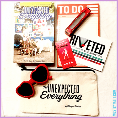 Morgan Matson The Unexpected Everything prize pack win at Mostly YA Lit