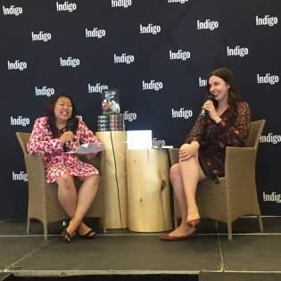 Tiff Morgan Matson laughing Indigo June 15, 2018