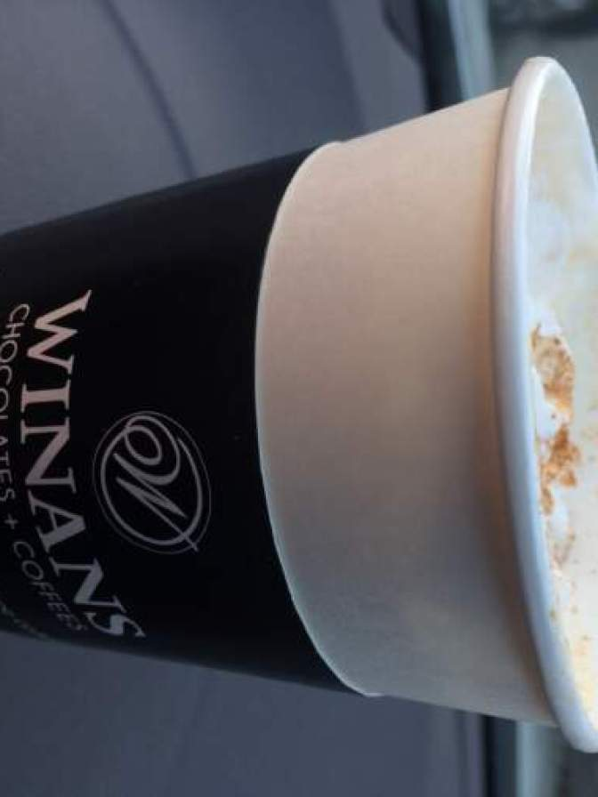 We like to snack on one of Winan's Opera Creams while sipping on their Pumpkin Pie Latte!