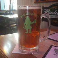 Mug of beer at McGillicutty's