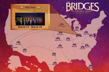 Bridges of Madison County the musical is in Dayton through March 20 on its limited US tour.