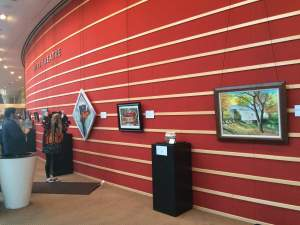 The Bridges of the Miami Valley is the current visual arts display in the Schuster Center.