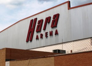 Hara Arena-Logo on Building_3