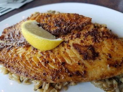 Tilapia over Rice at Archer's Kettering