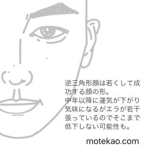 東出昌大さんの顔の形