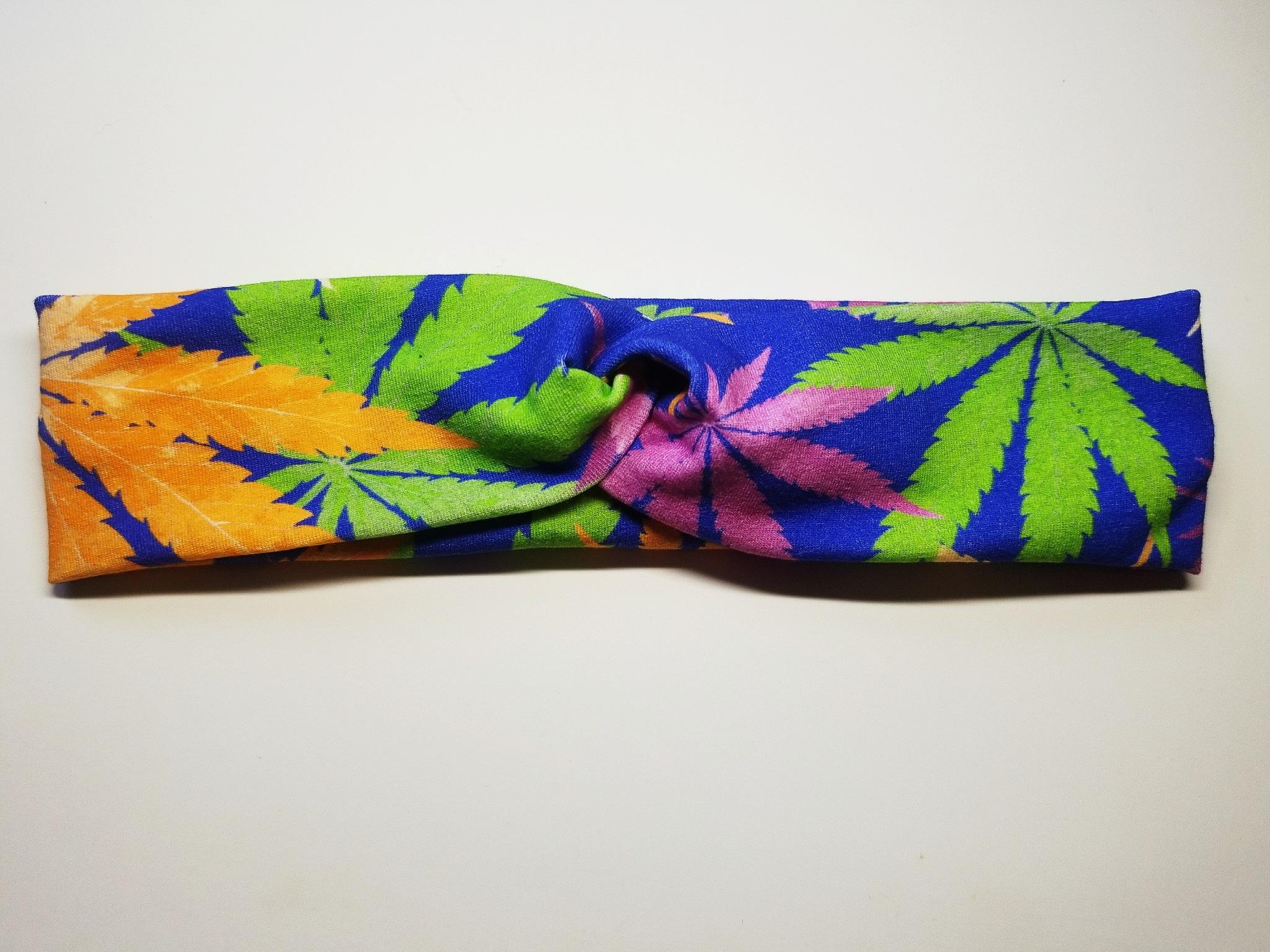 Cannabis Faux Turban Headband - Mother Earther 8f9c884320a