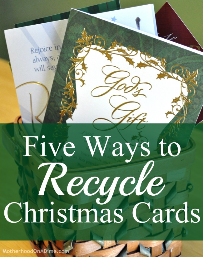 Five Ways To Recycle Christmas Cards Kids Activities