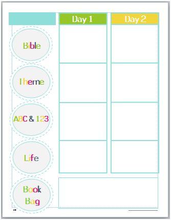 lesson planning for God's Little Explorers Christian Preschool Curriculum