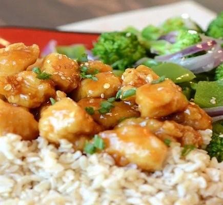 Orange Chicken Stir Fry with Brown Rice
