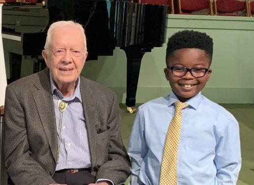 President Jimmy Carter & Nicholas Buamah