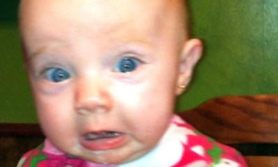 Baby Horrified Expression