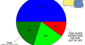 Funny Pie Chart about Max and Ruby