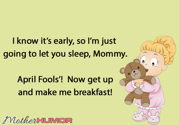 April Fools' Day eCard with Toddler